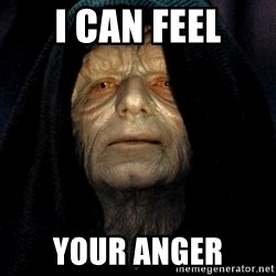 Star Wars Emperor - I can feel your anger