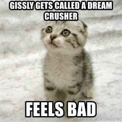 Can haz cat - Gissly gets called a dreAm crusher Feels bad