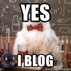 Science Cat - Yes i blog