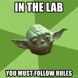 Advice Yoda Gives - In the lab you must follow rules