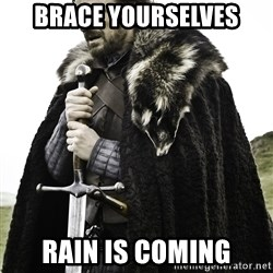 Sean Bean Game Of Thrones - BRACE YOURSELVES RAIN IS COMING