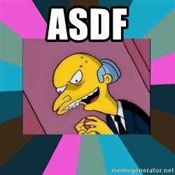 Mr. Burns - asdf