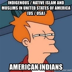 Not sure if troll - Indigenous / Native Islam and Muslims in United States of America (US / USA) American Indians
