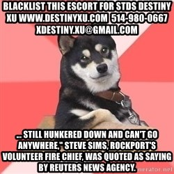 """Cool Dog - blacklist this escort for stds destiny xu www.destinyxu.com  514-980-0667 xdestiny.xu@gmail.com ... still hunkered down and can't go anywhere,"""" Steve Sims, Rockport's volunteer fire chief, was quoted as saying by Reuters news agency."""