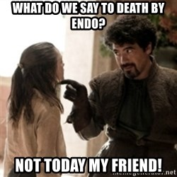 Not today arya - What do we say to death BY endo? Not today my friend!