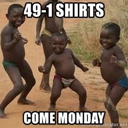 Dancing African Kid - 49-1 shirts come monday