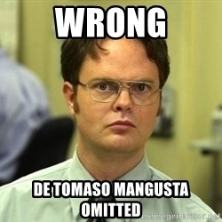 Dwight Schrute - Wrong De Tomaso Mangusta omitted
