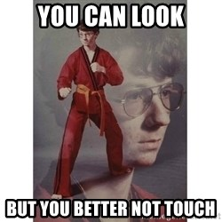 Karate Kid - You can look But you better not touch