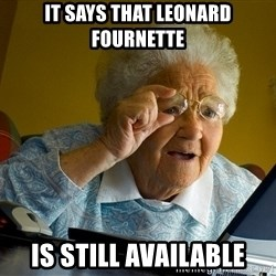 Internet Grandma Surprise - It says that leonard Fournette is still available