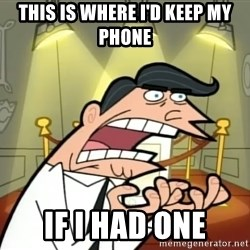 Timmy turner's dad IF I HAD ONE! - This is where i'd keep my phone If i had one