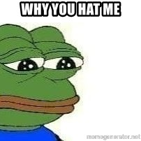 Sad Frog - WHY YOU HAT ME