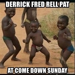 Dancing black kid - Derrick fred Rell pat At come down sunday