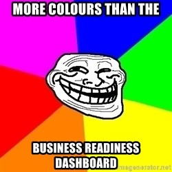 Trollface - More colours than the business readiness dashboard