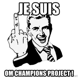 middle finger - Je suis OM CHAMPIONS PROJECT !