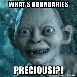 My Precious Gollum - What's boUndaries Precious!?!