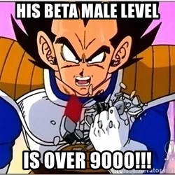 Over 9000 - His Beta Male Level is over 9000!!!