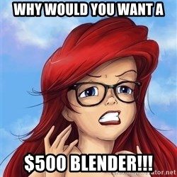 Hipster Ariel - WHY WOULD YOU WANT A  $500 BLENDER!!!