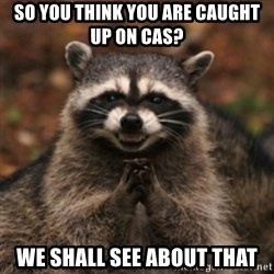 evil raccoon - So you think you are caught up on CAS? We shall see about that