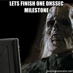 OP will surely deliver skeleton - LEts FINISH one dnssec milestone