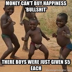 Dancing african boy - money can't buy happiness 'bullshit' there boys were just given $5 each