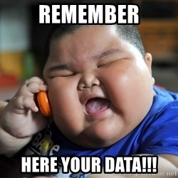 Fat Asian Kid - Remember here your data!!!