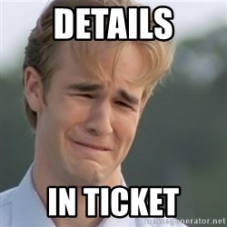 Dawson's Creek - details in ticket