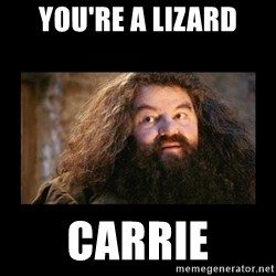 You're a Wizard Harry - You're a Lizard Carrie