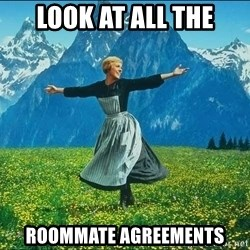Look at all the things - Look at all the Roommate agreements