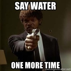 Jules Pulp Fiction - say water one more time