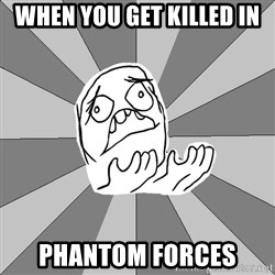 Whyyy??? - wHEN YOU GET KILLED IN pHANTOM fORCES