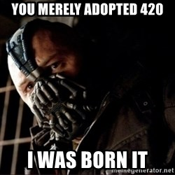 Bane Permission to Die - You merely adopted 420 i was born it