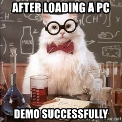 Science Cat - after loading a pc demo SUCCESSFULLY
