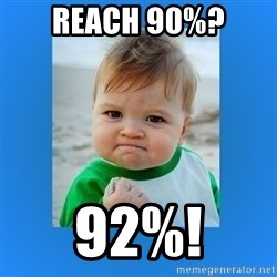 yes baby 2 - Reach 90%? 92%!