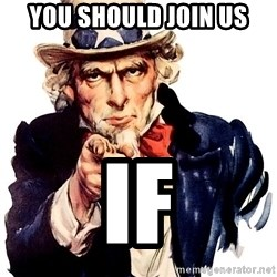 Uncle Sam Point - you SHOULD JOIN US IF