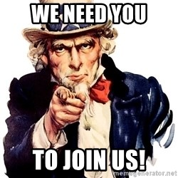 Uncle Sam Point - WE NEED YOU TO JOIN uS!