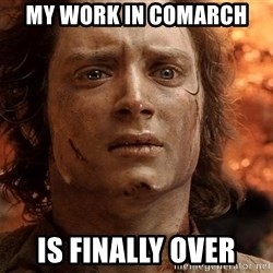 Frodo  - my work in comarch is finally over