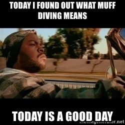 Ice Cube- Today was a Good day - Today I found out what muff diving means Today is a good day