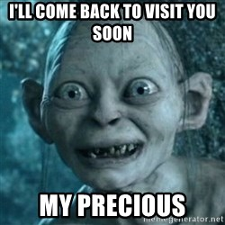 My Precious Gollum - I'll come back to visit you soon My precious