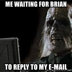 OP will surely deliver skeleton - Me waiting for Brian to reply to my e-mail