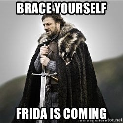 ned stark as the doctor - Brace yourself  Frida is coming