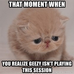 Super Sad Cat - That moment when  You REALIZE Geezy isn't playing this session