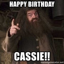 Hagrid - HAPPY BIRTHDAY CASSIE!!