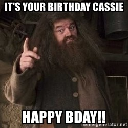 Hagrid - it's your birthday cassie happy bday!!