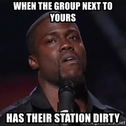 Kevin Hart Face - When the group next to yours has their station dirty