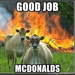 Evil Cows - good job mcdonalds