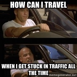 Vin Diesel Car - How can i travel When i get stuck in traffic all the time