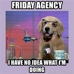 Dog Scientist - Friday agency I have no idea what I'm doing