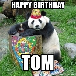Happy Birthday Panda - happy birthday tom