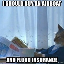 newspaper cat realization - I SHOULD BUY AN AIRBOAT AND FLOOD INSURANCE