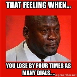 crying michael jordan - That feeling when... You lose by four times as many dials....